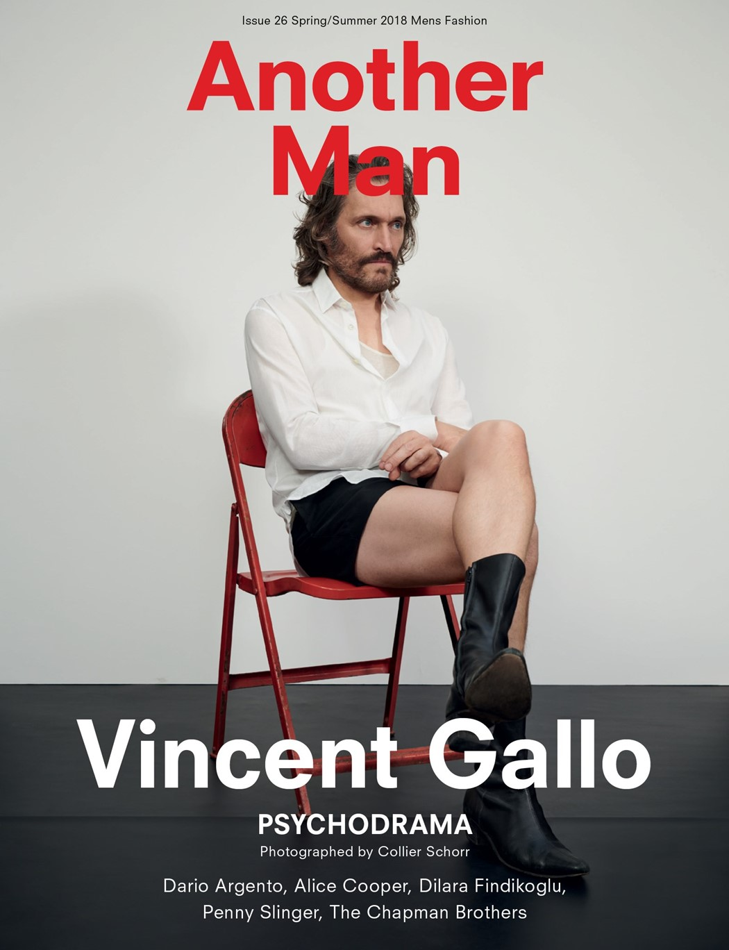 Another Man magazine Vincent Gallo cover Collier Schorr