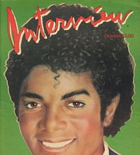 Michael Jackson on the cover of Interview magazine