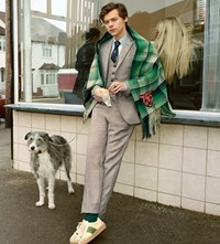 Harry Styles for Gucci Tailoring Campaign model 2018