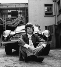 Gered Mankowitz MICK Jagger AND ASTON MARTIN fashion