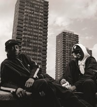 13 The three blocks. Me and Dizzee, back in the be
