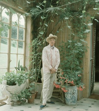 Cecil Beaton style fashion garden greenhouse