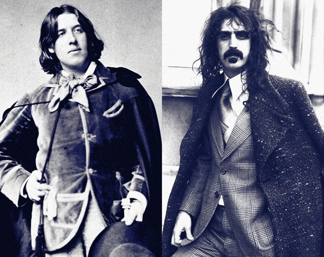 Oscar Wilde c. 1880 and Frank Zappa in London, 1975