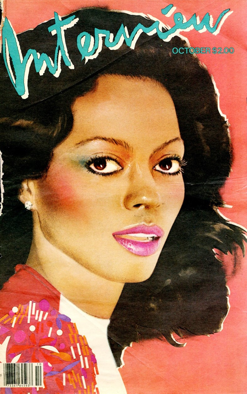 Diana Ross on the cover of Interview magazine